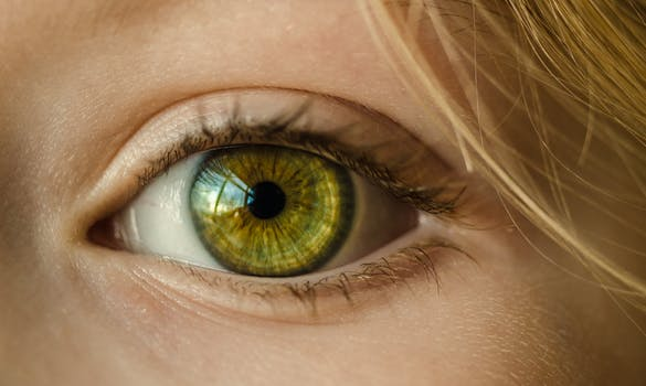 Woman after non surgical eye lift
