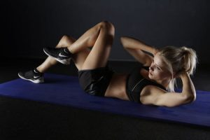Woman getting fit for new year resolution